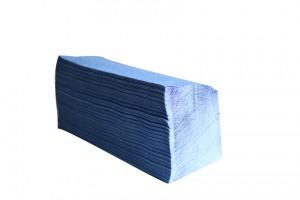 Essuie-mains pliés Z - Bleu