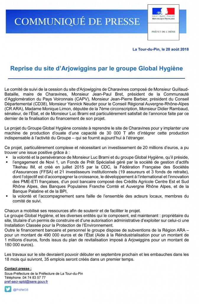 Communiqué de presse Global Hygiène définitif 2018
